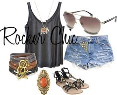 Rocker Chic, created by tessa-mattessich on Polyvore