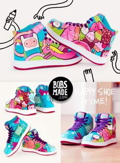 Adventure Time Shoes. I want these :O