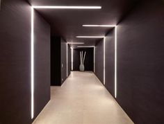 Luxury Pad With LED Lighting Schemes > corridor lighting