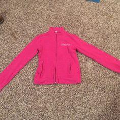 Pink sweatshirt Pink Billabong sweatshirt. Hoodless with zipper pockets on the front. Worn only once. Size medium Billabong Sweaters Crew & Scoop Necks