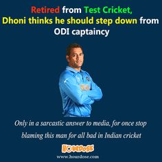Retired from Test Cricket, Dhoni thinks he should step down from ODI captaincy