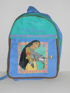 Vintage Disney Pocahontas Backpack, I remember having this in Parker school and I loved it so much ! My daddy and mommy always spoiled their gatia to the fullest , good times Back In My Day, Back In The 90s, 90s Childhood, Childhood Memories, Little Mermaid Backpack, Disney Patches, Disney Pocahontas, 90s Kids, Cute Disney