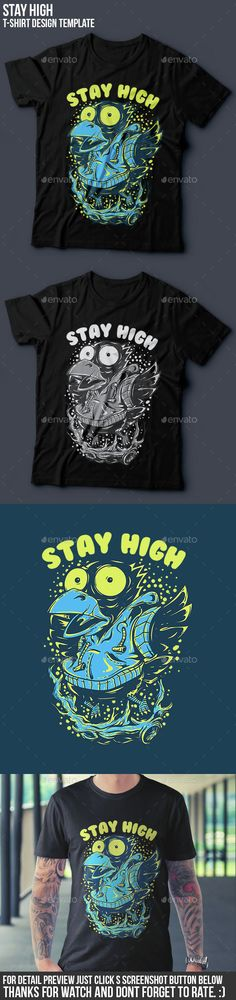Stay High #T-Shirt #Design - Funny Designs Download here: https://graphicriver.net/item/stay-high-tshirt-design/13093234?ref=alena994