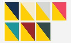 Colour combinations from Sweden's new brand identity system