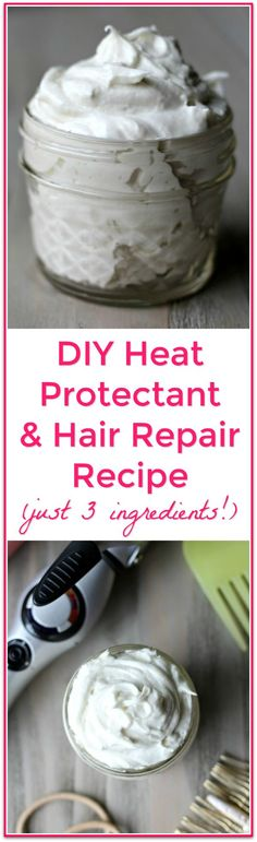 Heat Protectant and Hair Repair DIY Heat Protectant and Hair Repair Styling Cream - this stuff transformed my hair!DIY Heat Protectant and Hair Repair Styling Cream - this stuff transformed my hair! Natural Hair Care, Natural Hair Styles, Natural Beauty, Natural Skin, Doterra, Diy Beauté, Easy Diy, Diy Hair Care, Do It Yourself Fashion