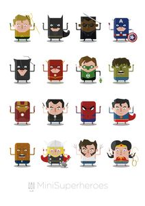 'Mini Superheroes' by Balloon.