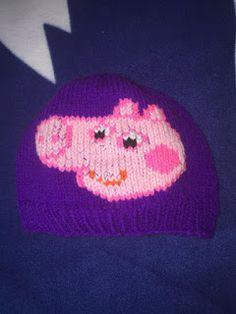 NL crafts: peppa pig hat Peppa Pig, Purple, Hats, Red, Hat, Viola, Hipster Hat