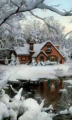 Inspiration For Landscape photography Picture Description winter beauty Winter Szenen, Winter Love, Winter Magic, Winter Christmas, Country Christmas, Winter Sunset, Magical Christmas, Winter Night, Christmas Images