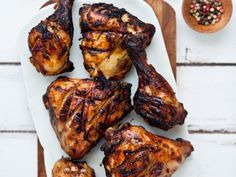 Chicken Legs Marinated in Yogurt and Spices   This pungent cumin-and-coriander-spiked marinade is reminiscent of restaurant tandoori spicing—without the scary red dye. The yogurt helps the spice...