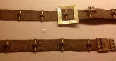 Eric of Pomerania's Belt see Nesat X Medieval Belt, Medieval Life, Medieval Costume, Medieval Clothing, Men's Clothing, Historical Costume, Historical Clothing, Woven Belt, History
