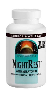 Source Naturals NightRest with Melatonin, Multi-Nutrient-Herb Complex for Restful Sleep, 200 Tablets