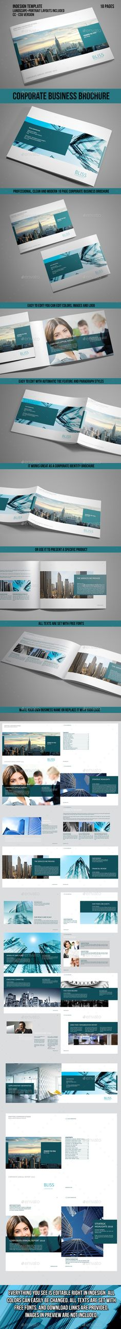 Corporate Business Brochure Indesign Template #design Download: http://graphicriver.net/item/corporate-business-brochure-indesign-template/13965135?ref=ksioks
