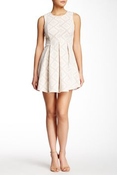 Lace Overlay Skater Dress by Want & Need on @nordstrom_rack