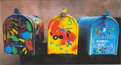 Letter-boxes in Santa Fe, New Mexico, United States