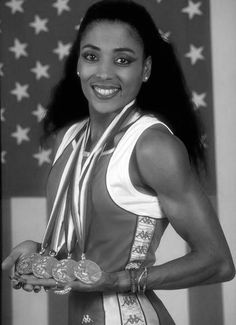 """""""When anyone tells me I can't do anything, I'm just not listening any more"""" - Florence Griffith Joyner (The late American track and field athlete won three medals at the 1988 Olympic Games. American Athletes, Female Athletes, Olympic Track And Field, Flo Jo, Beautiful Athletes, Black Actors, My Black Is Beautiful, Vintage Black Glamour, Athletic Women"""