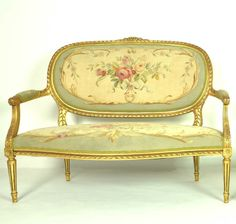 Petit Louis XVI Style Giltwood Canape Louis xvi and Canapes