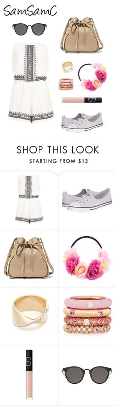 """""""Untitled #231"""" by samchoo ❤ liked on Polyvore featuring Topshop, Converse, Nina Ricci, PINK ANGEL, Adina Reyter, Adolfo Courrier and NARS Cosmetics"""