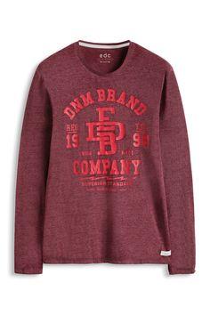 edc : T-shirt en jersey d´aspect dévoré à acheter sur la Boutique en ligne