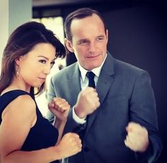 Coulson and may! Agents of SHIELD
