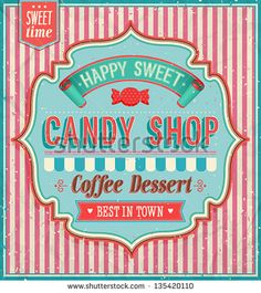 Candy shop. Vector illustration.