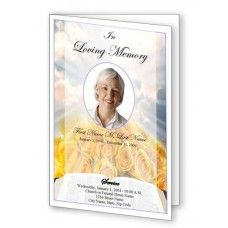 colorful spring day funeral program template top funeral program