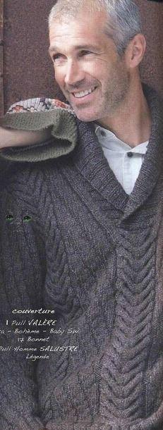 Вязание для мужчин спицами джемпера Textured, Designer Knits.