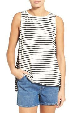 Madewell Forward Seam Stripe Tank available at #Nordstrom