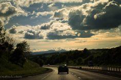 Driving home from location @Outlander_Starz #Outlander #potd #endlesssunset