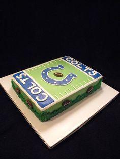 Faithy Cakes - Colts football field cake