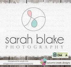 photography logo  hand lettered logo  custom logo  by autumnscreek