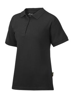 Women's Polo Shirt in black that is ideal for company profiling. It's available in four contemporary colors and has an easy care finish. It keeps its colour and shape, even when you wash it at 85° C so you can enjoy it for a long time. - Snickers Workwear Artnr. 2702