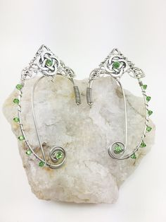 Elf Ears made from wire has Celtic Knot and beads.