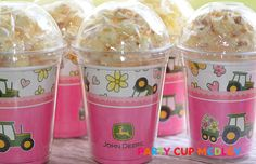 John Deere Birthday Party CupsPopcorn BoxSet of by PartyCupMedley, $12.40