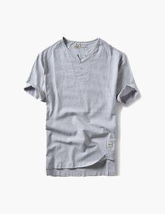 Look fashion sectioned shopify theme Look Fashion, Korean Fashion, Stretchy Material, Chiffon Dress, Men Casual, Short Sleeves, Grey, Mens Tops, T Shirt
