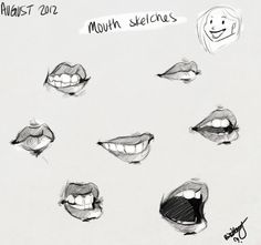 ~ Mouth sketches by Britt315.