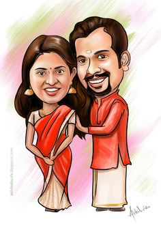 / Personalized anniversary gift         Wedding Caricature with Friends and Colleagues         Wedding Caricature UAE  high quality      ...