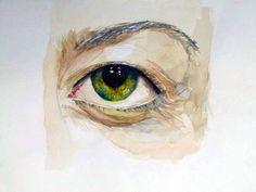 Wie malt man ein Auge mit Aquarell?
