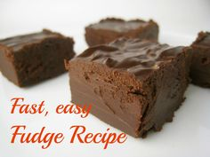 Fast, easy fudge recipe for National Fudge Day. Shouldn't that be every day?