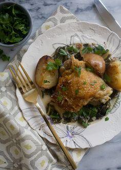 Cream Braised Chicken // www.acozykitchen.com