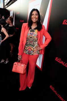 Cookie Johnson attends the Los Angeles attends the Los Angeles premiere of THE EQUALIZER 2 at TCL Chinese Theatre, supported in part by Lyft. Film Fashion, What Women Want, Red Carpets, Famous People, Theatre, Cookie, Chinese, Entertainment, Shoulder Bag