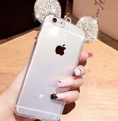 Rhinestone mickey mouse ears case 12,90€ Iphone 5/6/7 -Samsung S6/S7/J5/J7 #phonecases #diamonds #mickeymouse