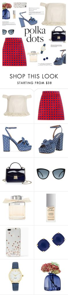 """So Dotty: Polka Dots"" by little-curly-juli ❤ liked on Polyvore featuring Topshop Unique, Miu Miu, Tabitha Simmons, Vision, Furla, Chloé, Givenchy, Kate Spade, LSA International and PolkaDots"
