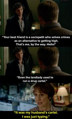 "When we found out more about Mrs Hudson's ex. | 14 Times Mrs Hudson Was The Best Thing About ""Sherlock"""