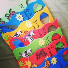 Handmade baby clothes dividers