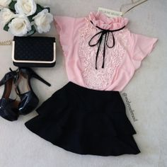 BLUSA LOLITA  DELUXE D/ RENDA (  COR  Rosê) Baby Girl Fashion, Cute Fashion, Look Fashion, Korean Fashion, Kids Fashion, Vintage Fashion, Girly Outfits, Trendy Outfits, Cute Outfits
