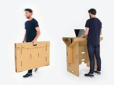 This cardboard standing desk that you can actually stand upon: | 19 Conveniently Portable Items That Will Change Your Life