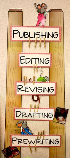 his writing process ladder reminds students what comes next when it comes to writing.