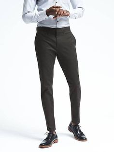 Banana Republic Mens Fulton Skinny Stretch Chino
