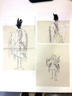 Fashion Sketchbook - fashion illustrations; fashion sketching; fashion student portfolio // Hyun Kyo Cho