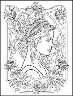 Art Nouveau Animals and Flowers Adult Coloring Book by Juliana Emerson                                                                                                                                                                                 More